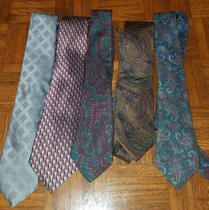 Bundle of 5 Men's Ties